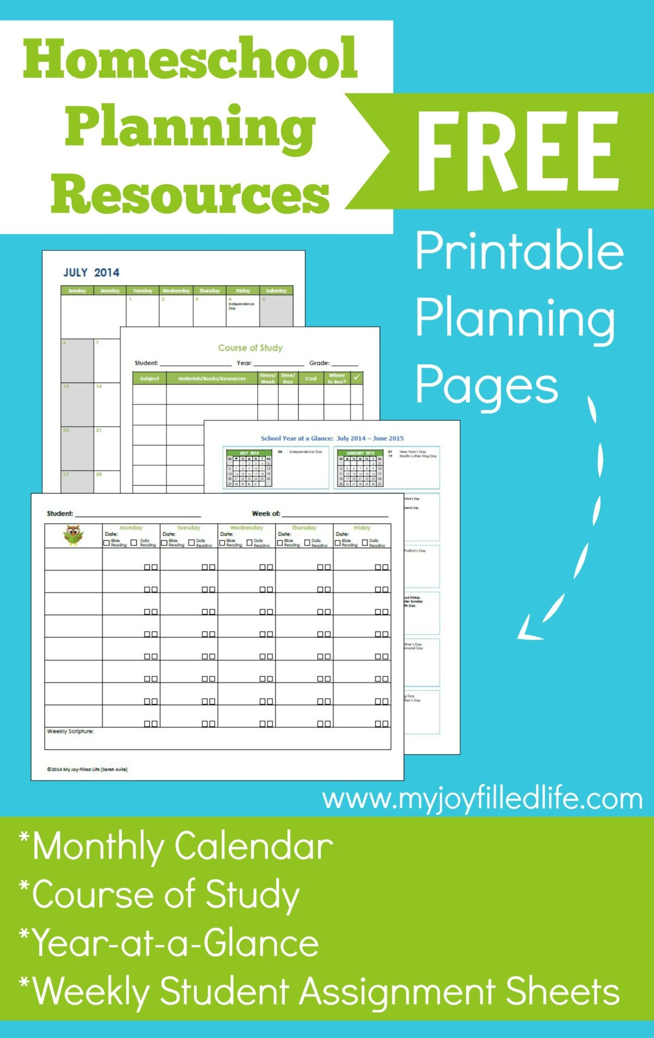 Homeschool Planning Resources & Free Printables - My Joy-Filled Life - Free Printable Homeschool Curriculum