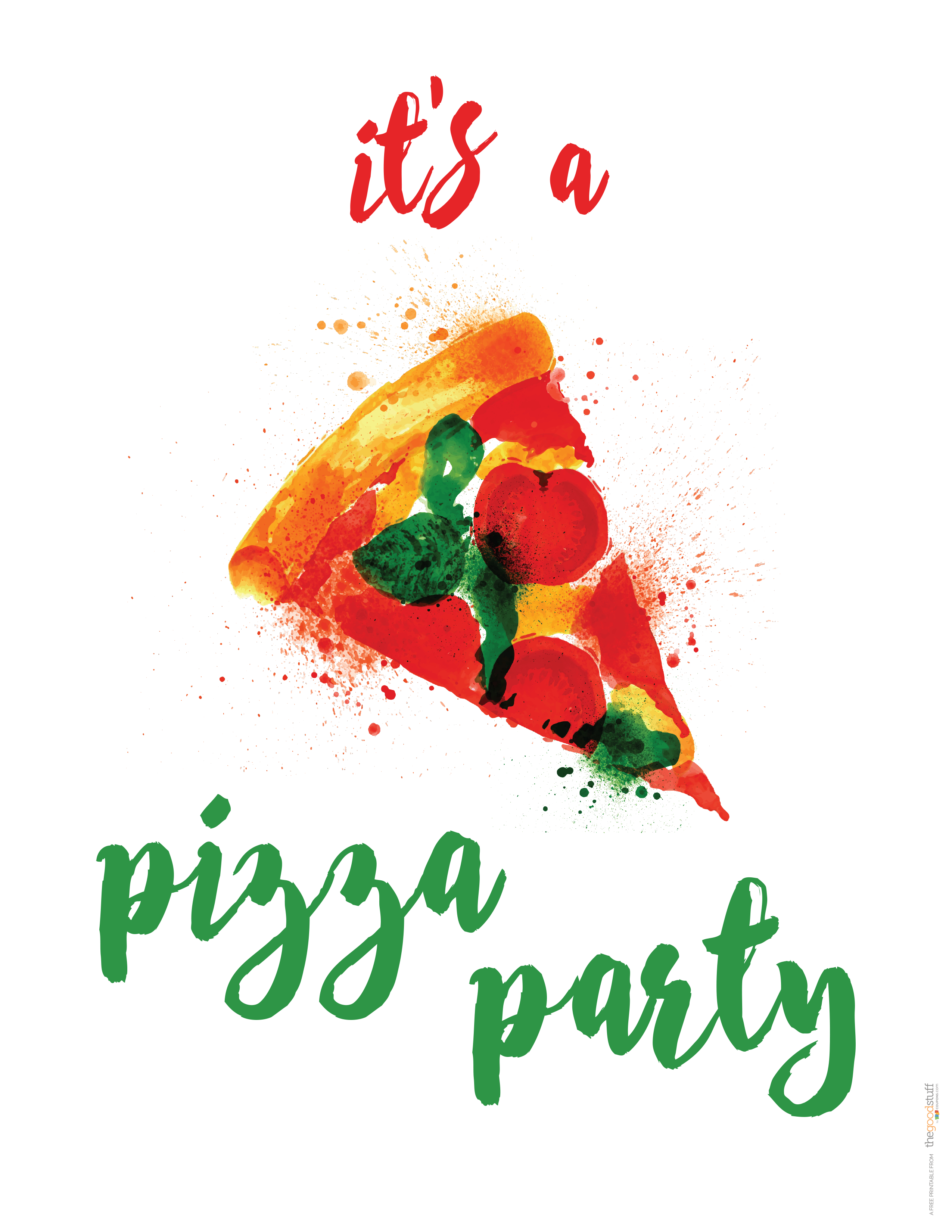 Hostess Helpers: Free Pizza Party Printables | Birthday Parties - Free Printable Italian Party Invitations