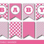 Hot Pink Banner, Party Banner, Birthday Banner, Baby Shower Banner   Free Printable Baby Shower Banner Letters