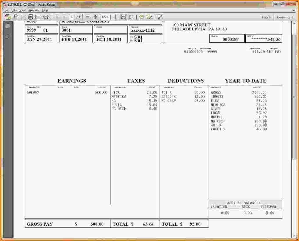 Hourly Wage Then Log Download Pay Stub Template Word Free Pay Stub - Free Printable Check Stubs