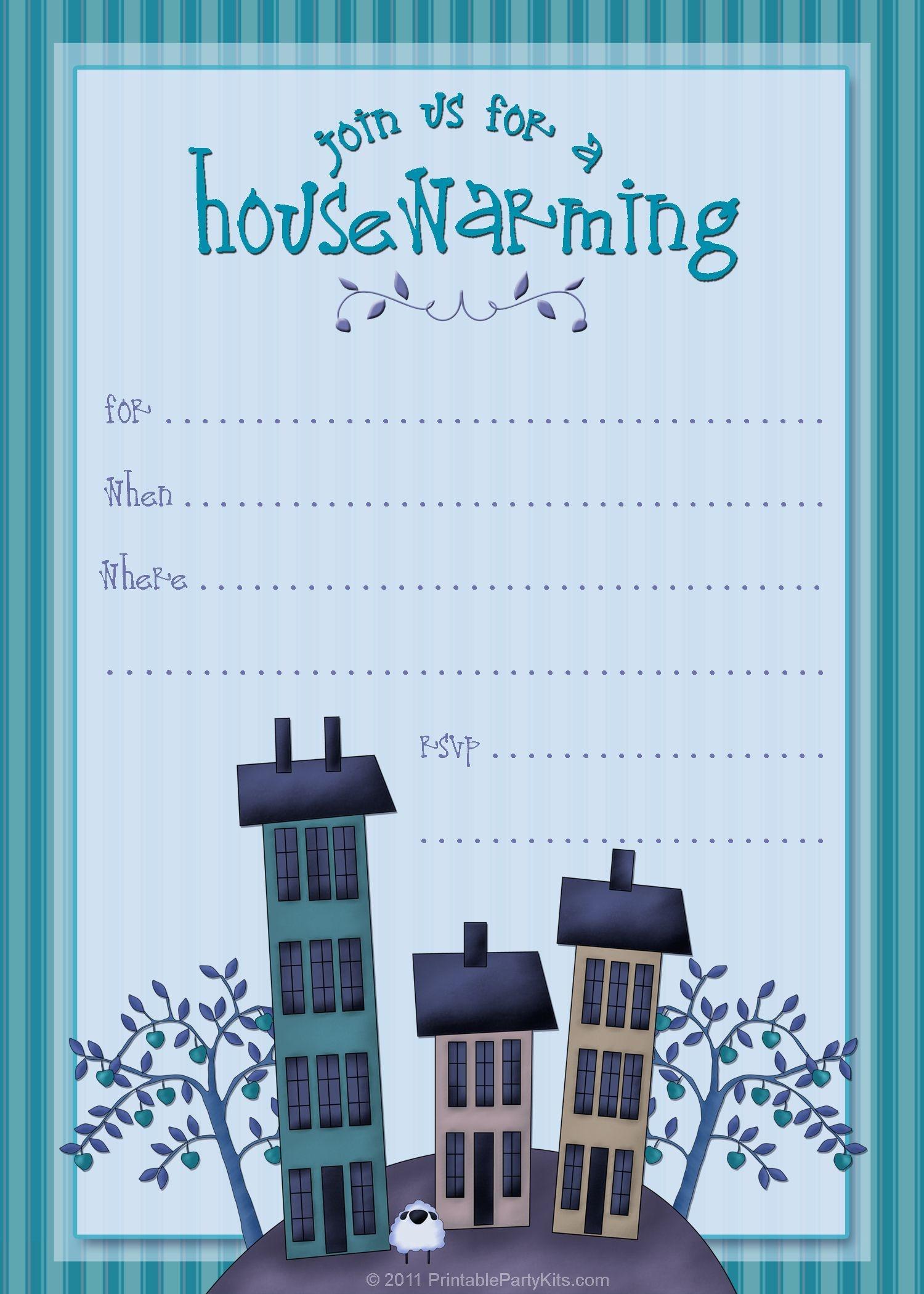 Housewarming Invite Template   Tanveer   Housewarming Party - Free Printable Housewarming Invitations Cards