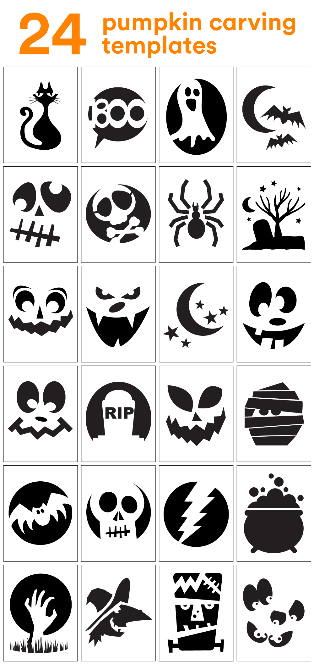 How To Carve The Coolest Pumpkin On The Block (Carving Stencils - Free Halloween Pumpkin Printables