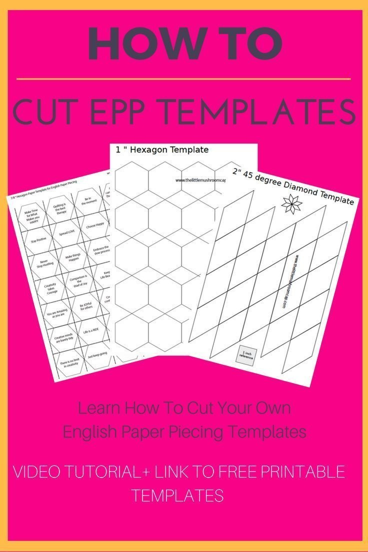 How To Cut English Paper Piecing Templates | Cutting Files | English - Paper Piecing Patterns Free Printables