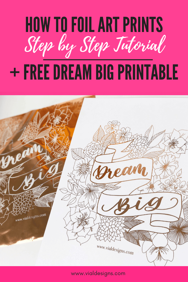 How To Foil Art Prints | Diy Step-By-Step Tutorial |Vial Designs - Free Printables For Foiling