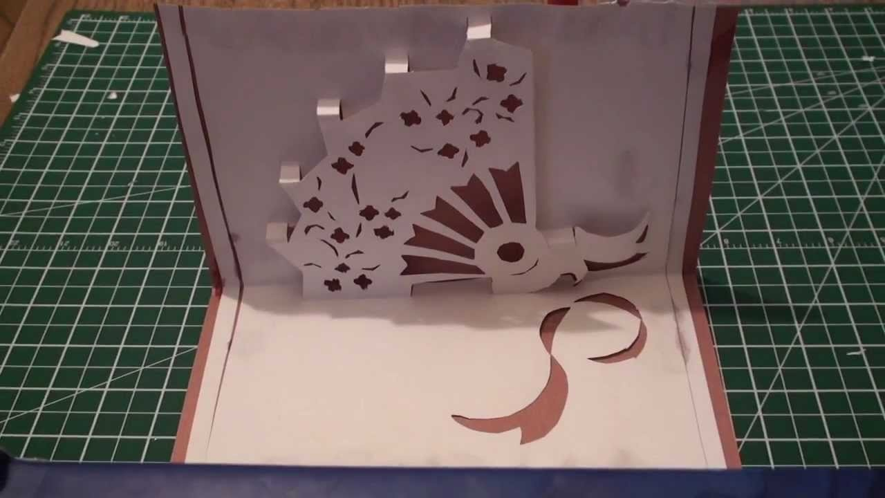 How To Make A Kirigami Pop Up Hand Fan Card (Paper Craft)! - Kirigami Free Printable Patterns