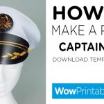 How To Make A Paper Captains Hat ( Printable Template )   Youtube   Free Printable Pilot Hat Template