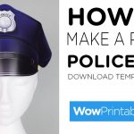 How To Make A Paper Police Hat ( Printable Template )   Youtube   Free Printable Police Hat