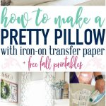 How To Make A Pillow With Iron On Transfer Paper + A Free Fall   Free Printable Christmas Iron On Transfers