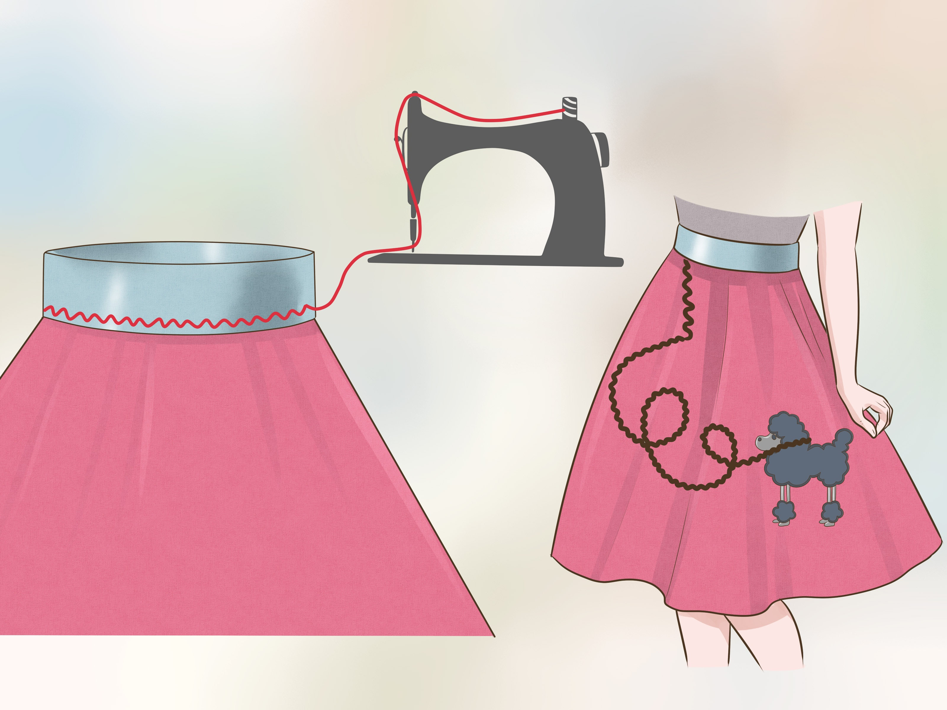 How To Make A Poodle Skirt Without A Pattern And With Minimal Sewing - Free Printable Poodle Template