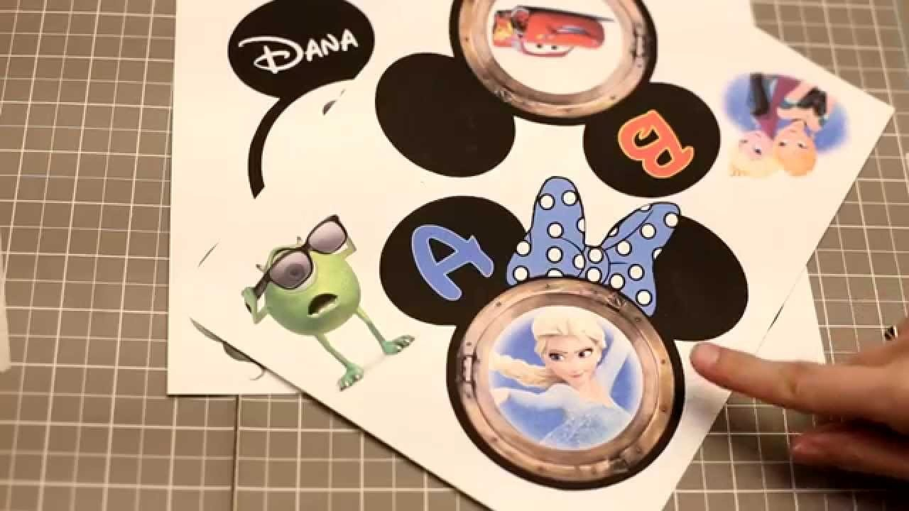 How To Make Disney Cruise Magnets: Magnet Paper Vs. Lamination - Youtube - Free Printable Disney Cruise Door Magnets