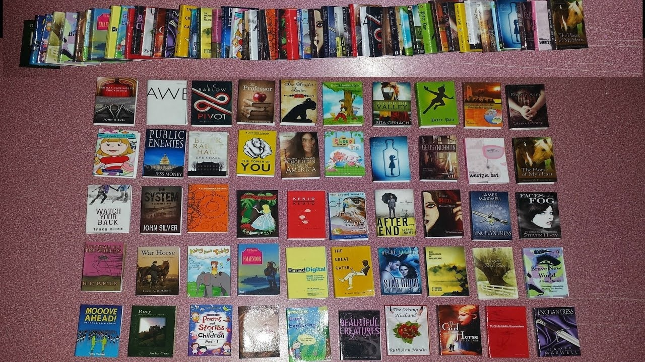 How To Make Doll Books With 50 Book Covers Printable - Youtube - Free Printable Miniature Book Covers
