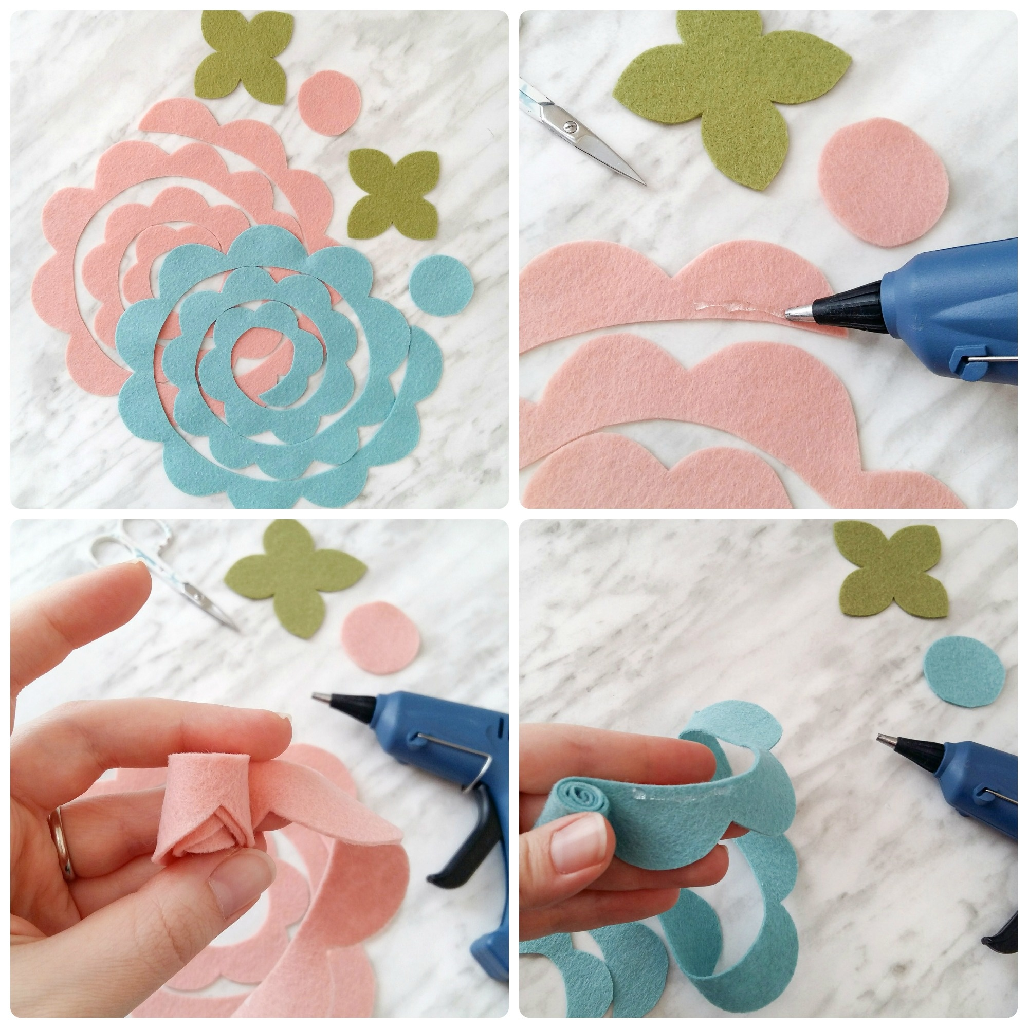 How To Make Felt Flowers - With Free Printable Pattern! | Wildflower - Free Printable Felt Patterns