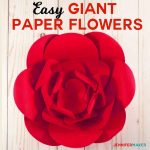 How To Make Giant Paper Flowers   Easy And Fast!   Jennifer Maker   Free Printable Templates For Large Paper Flowers