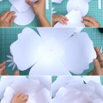 How To Make Giant Paper Roses Plus A Free Petal Template   Free Printable Templates For Large Paper Flowers