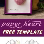 How To Make Paper 3D Heart Frame, Free Template And Tutorial   Free Printable Paper Crafts