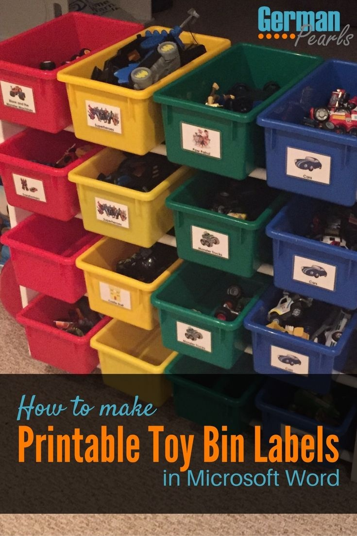 How To Make Printable Labels For Toy Storage Bins | The Best Of - Free Printable Labels For Storage Bins