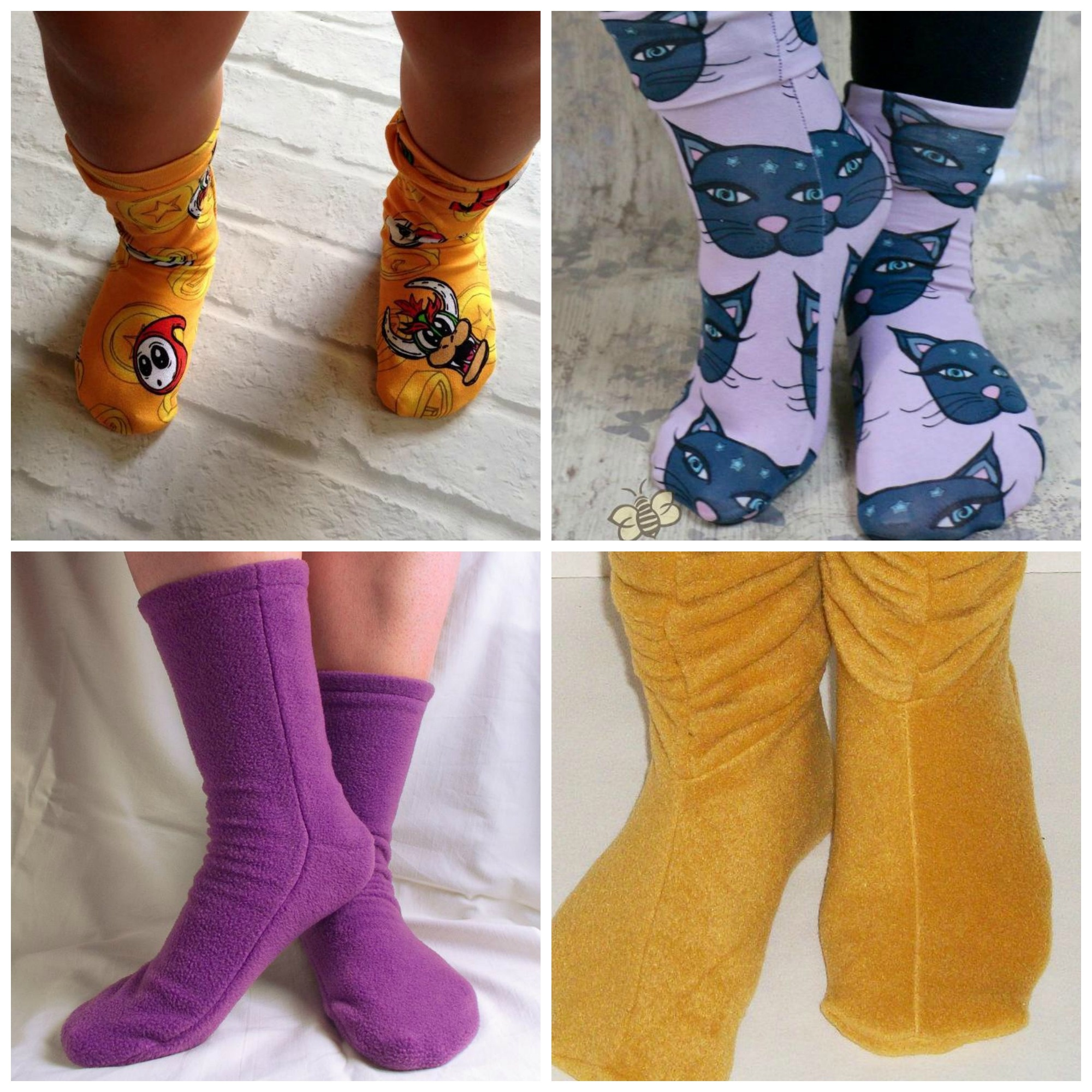 How To Make Socks – Tips & Patterns On Craftsy - Free Printable Fleece Sock Pattern