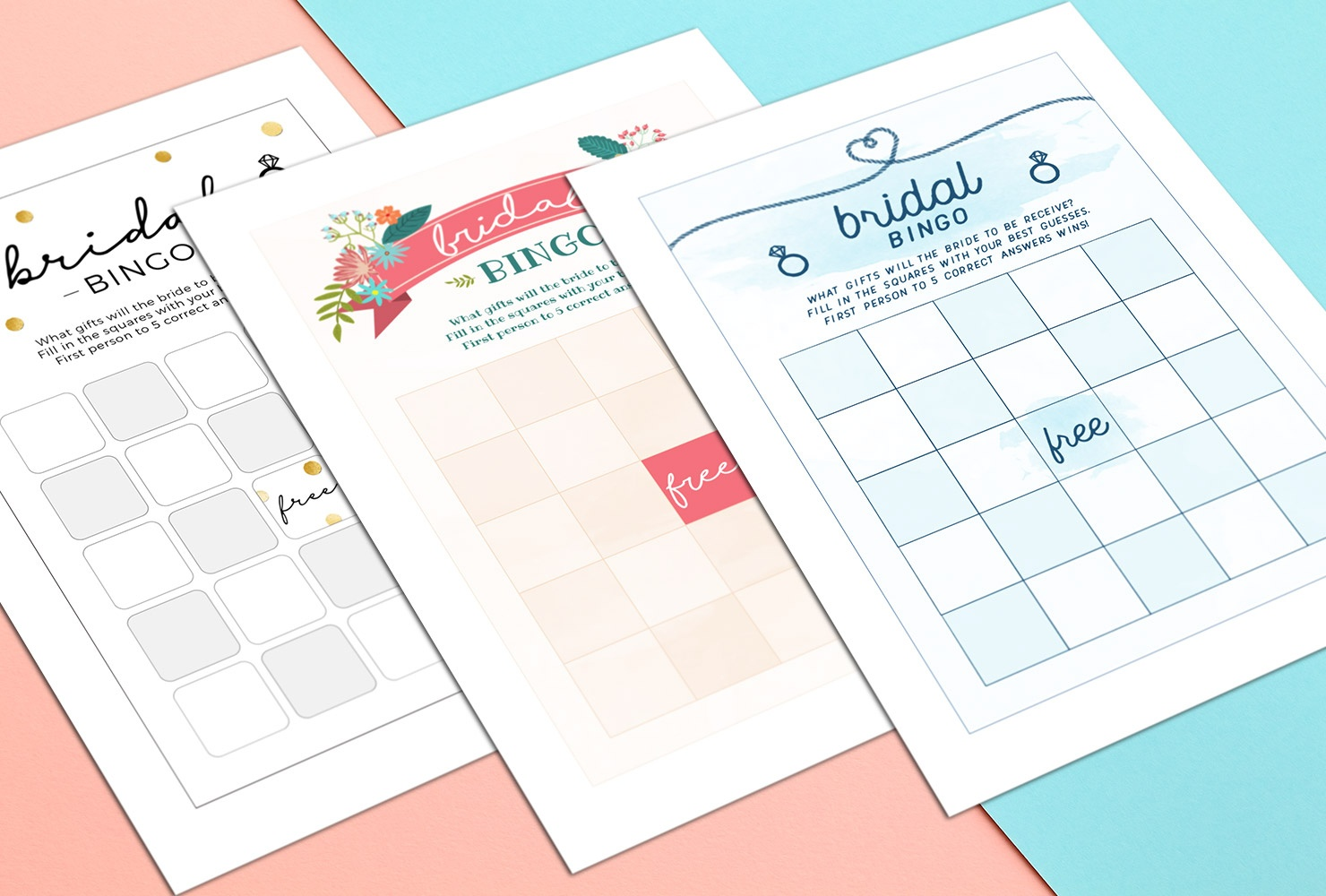 How To Play Bridal Shower Bingo (With Printables)   Shutterfly - Free Printable Bridal Shower Bingo