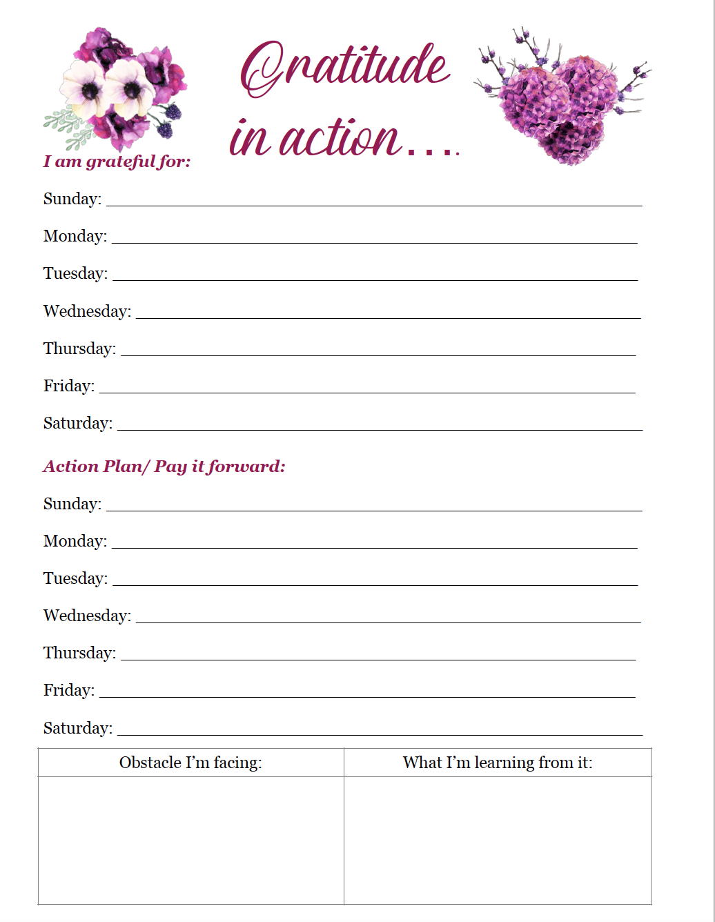 How To Practice Gratitude And Free Printable Gratitude Journal - Free Printable Gratitude Journal