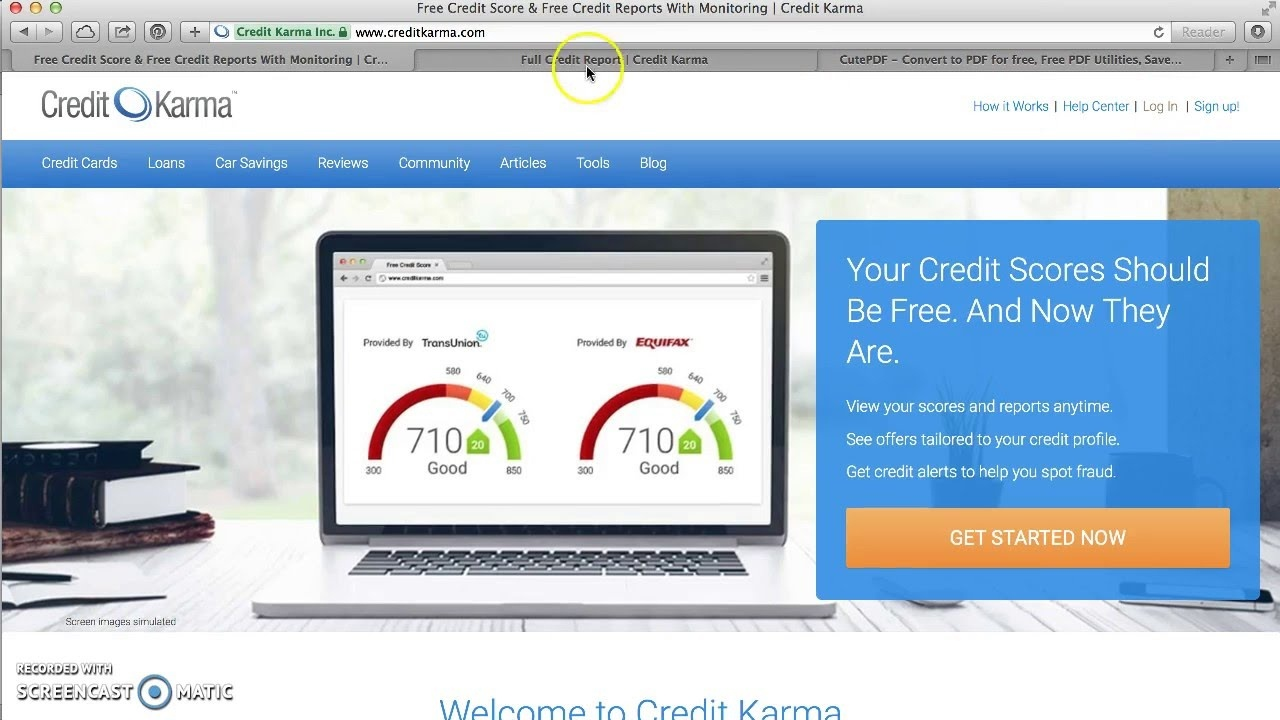 How To Print & Download Free Credit Report From Credit Karma - Youtube - Free Printable Credit Report
