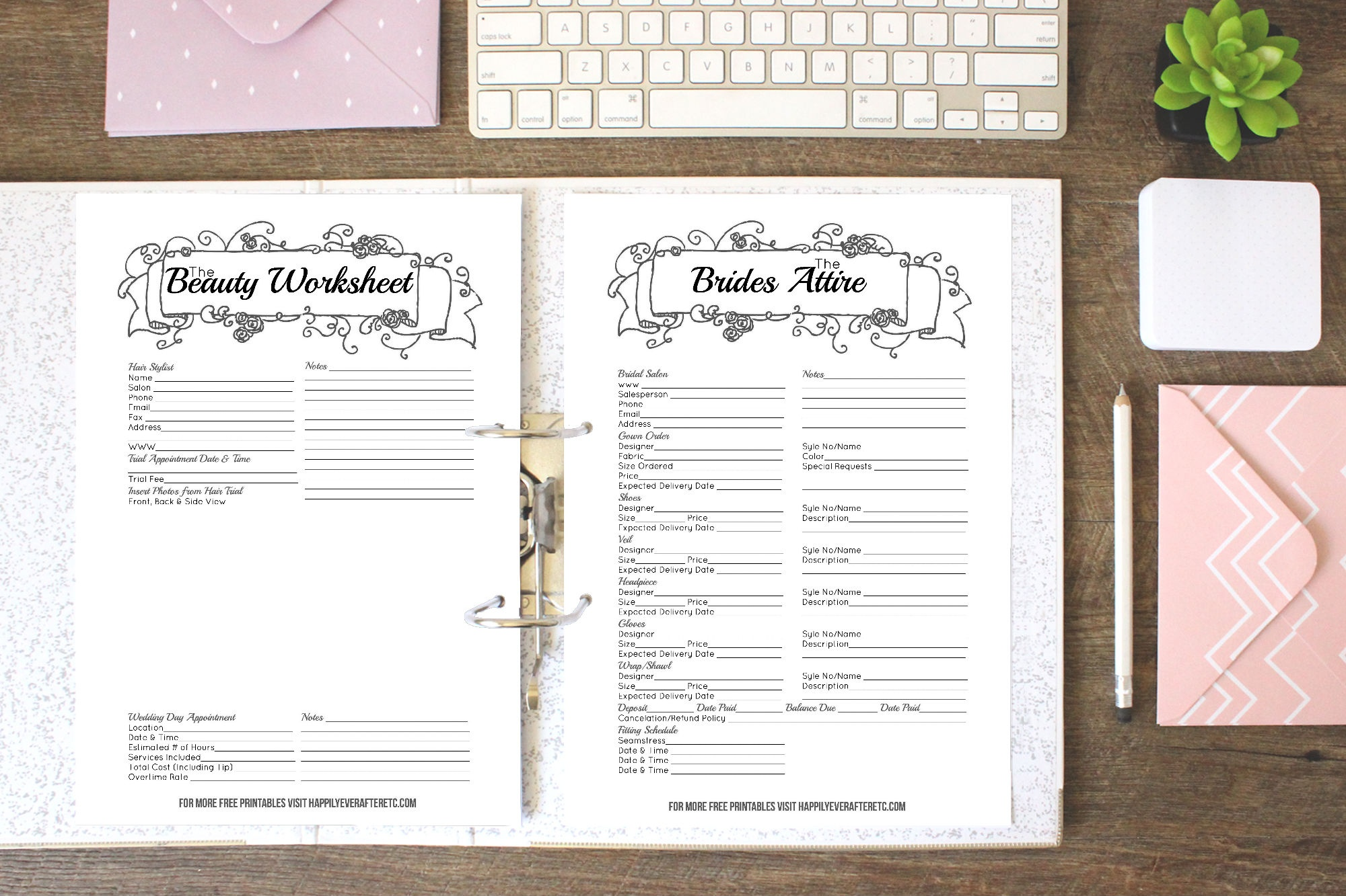 How To Put Together Your Perfect (Free) Wedding Binder (+ 42 Free - Free Wedding Binder Printables