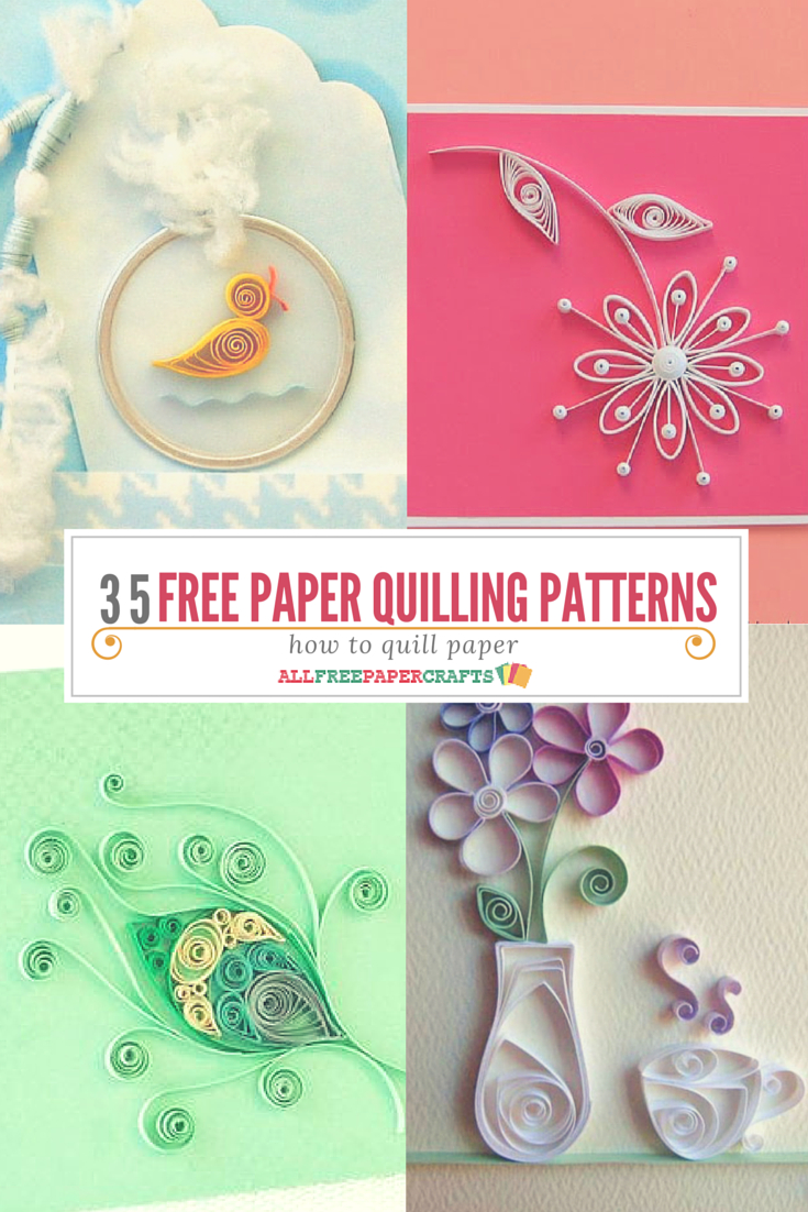 How To Quill Paper: 40+ Free Paper Quilling Patterns | Crafts - Free Printable Quilling Patterns Designs