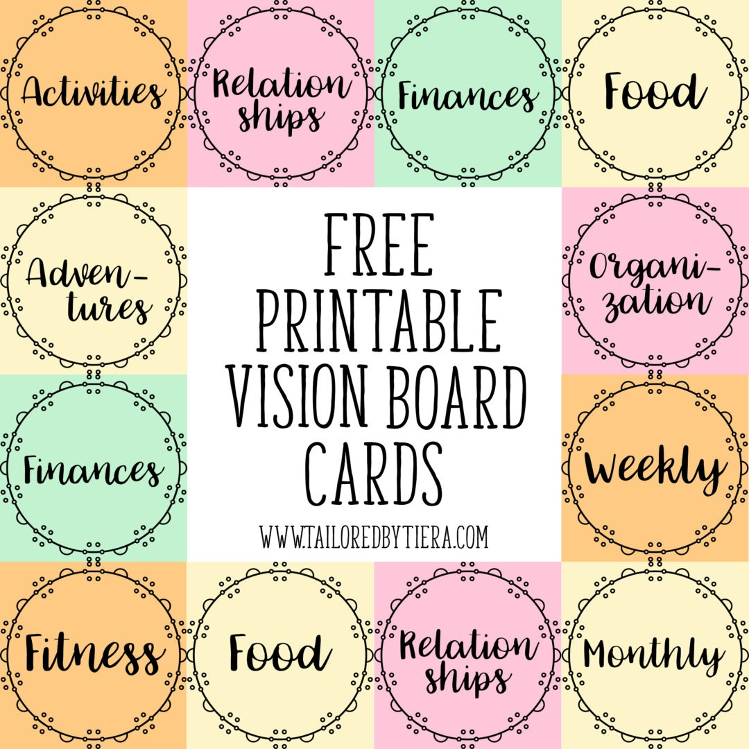 How To Use Visuals To Stay Motivated: Vision Board Cards For - Free Vision Board Printables Pdf