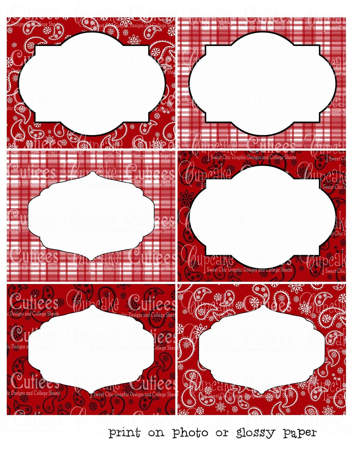 Howdy Birthday Cowboy Or Cowgirl Digital Collage Large Labels - Free Printable Western Labels