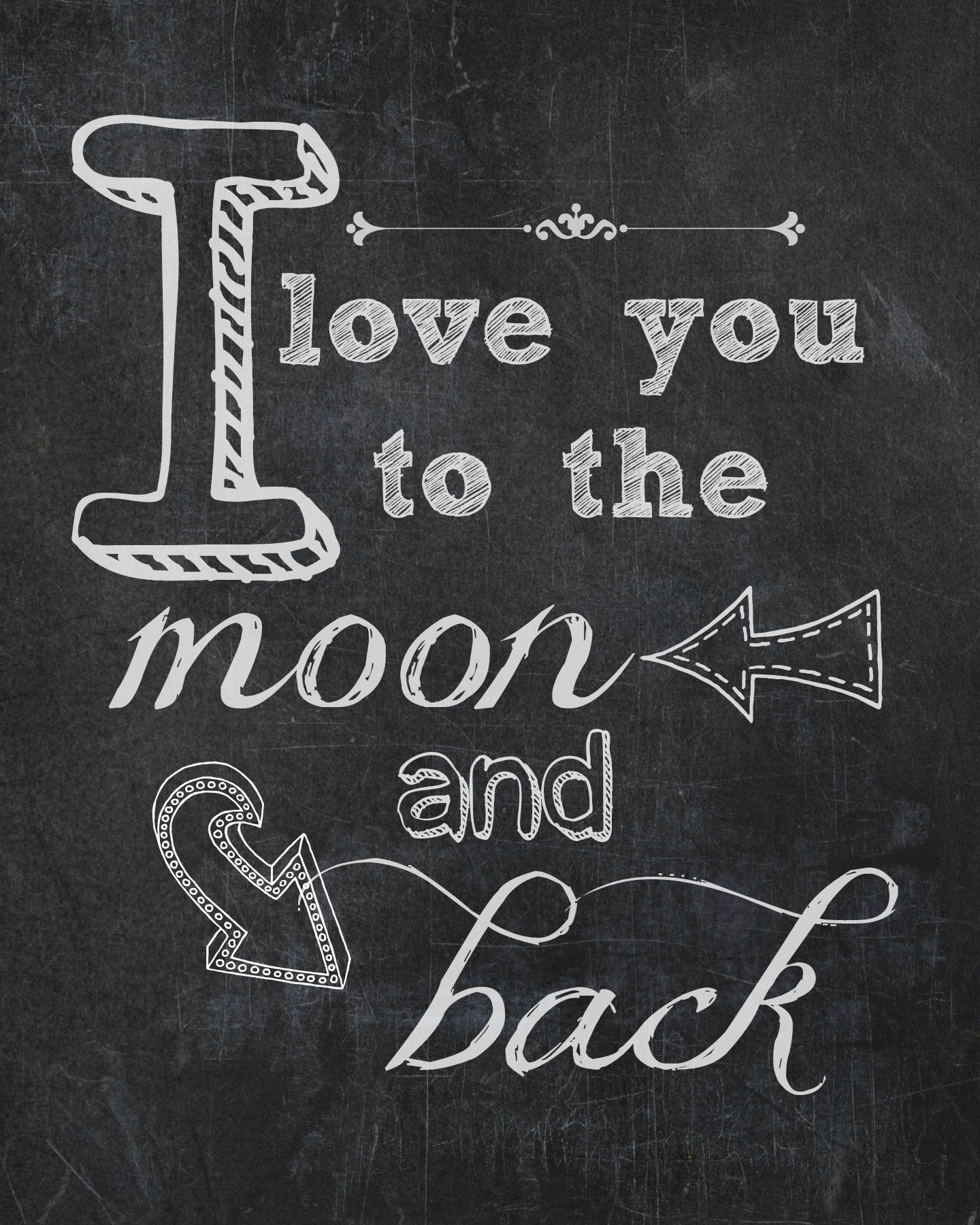 I Love You To The Moon & Back {Free Printable} | Endlessly Inspired - Free Printable Love You To The Moon And Back