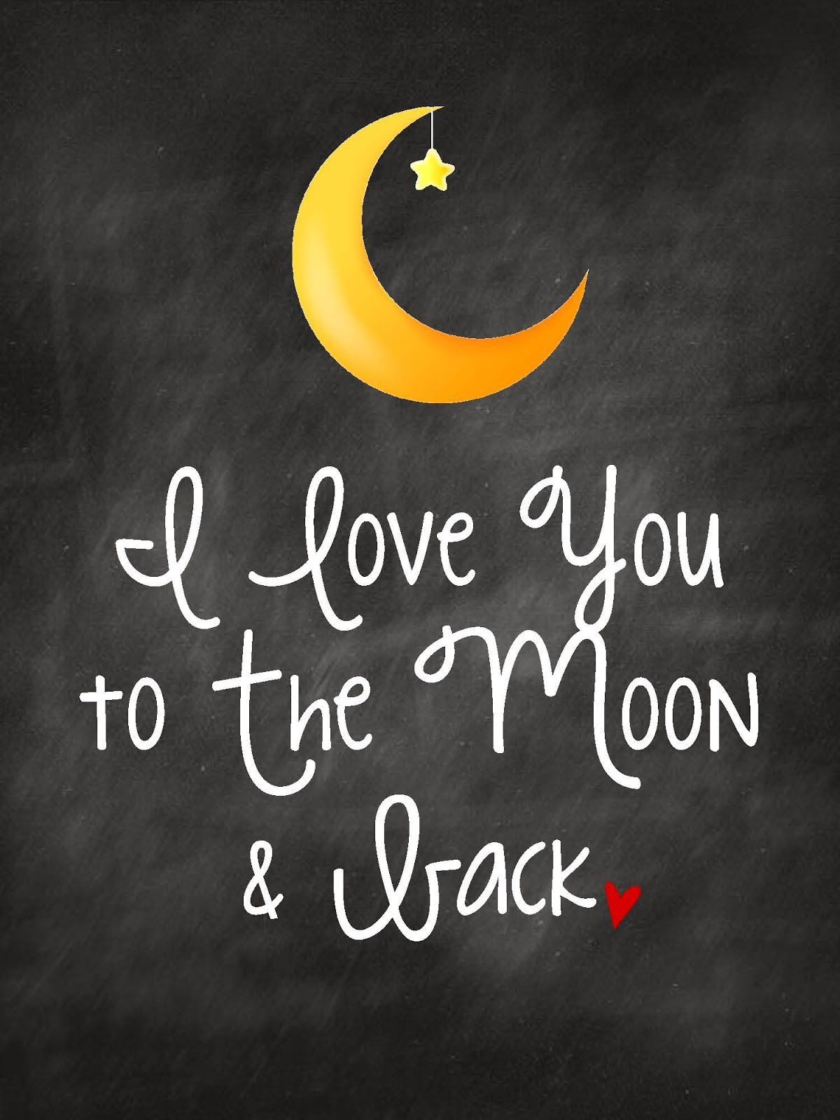 I Love You To The Moon & Back | Kids Art Free Printable Nursery Wall - Free Printable Love You To The Moon And Back