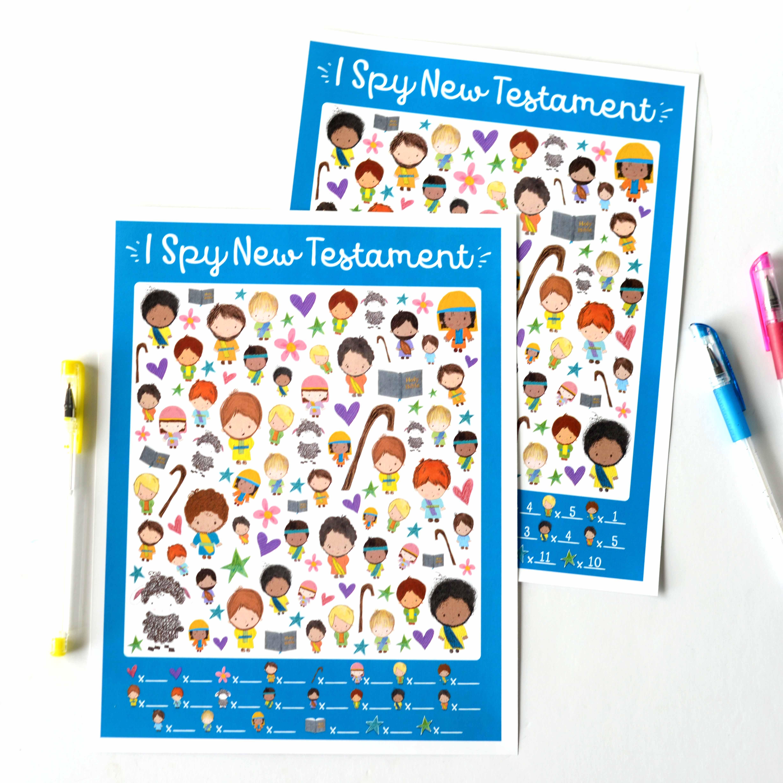 I Spy New Testament Printable Game - Teepee Girl - Free Printable Bible Games For Kids