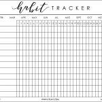 I Was Recently Helping My Boyfriend, Justin, Get His Bu … | Bujo   Free Printable Habit Tracker