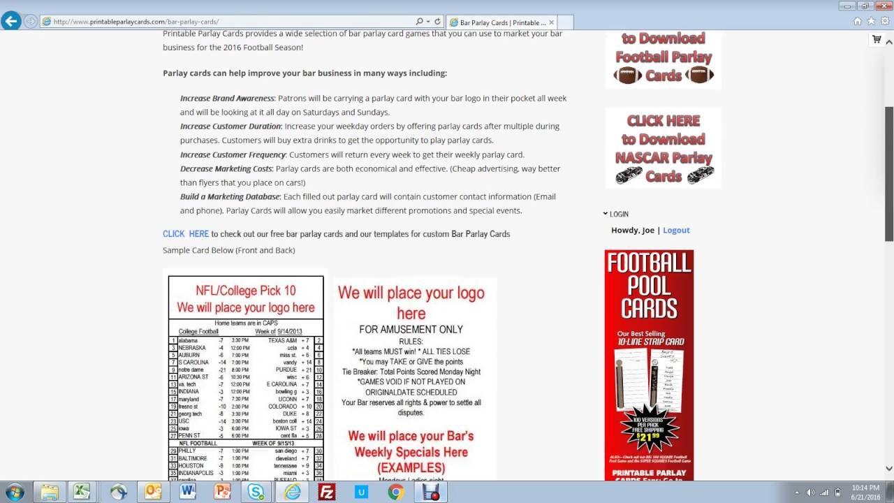 I.ytimg/vi/goaerrtvk3K/maxresdefault - Free Printable Football Parlay Cards