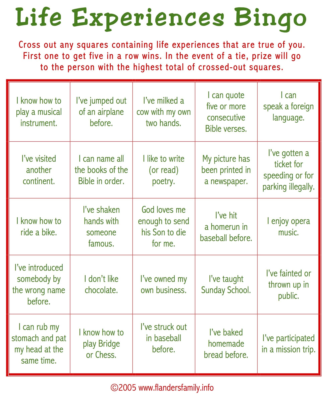 Ice Breaker Bingo (Free Printable) - Flanders Family Homelife - Free Printable Religious Christmas Games