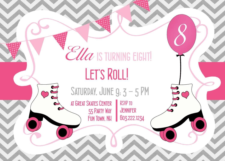 Ice Skating Party Invitations Free Printable | Kids Birthdays In - Free Printable Roller Skating Birthday Party Invitations