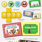Ideas Para Fiestas Temáticas De Super Mario | Birthdays | Mario   Free Mario Printables