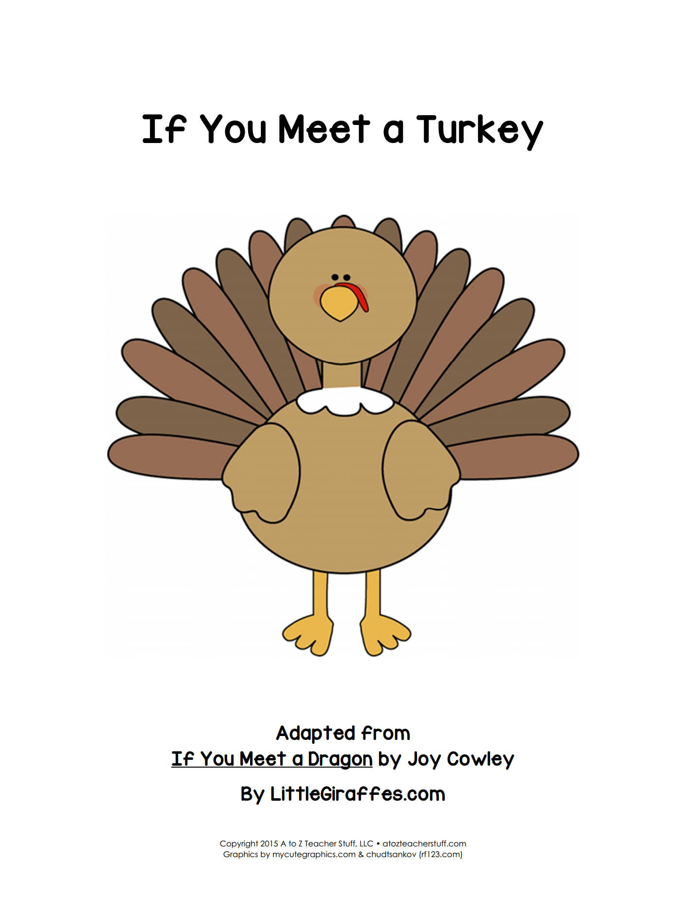 If You Meet A Turkey Printable Book | A To Z Teacher Stuff Printable - Thanksgiving Printable Books Free