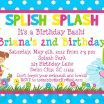 Image For Free Printable Kids Birthday Party Invitations Template   Free Printable Water Park Birthday Invitations