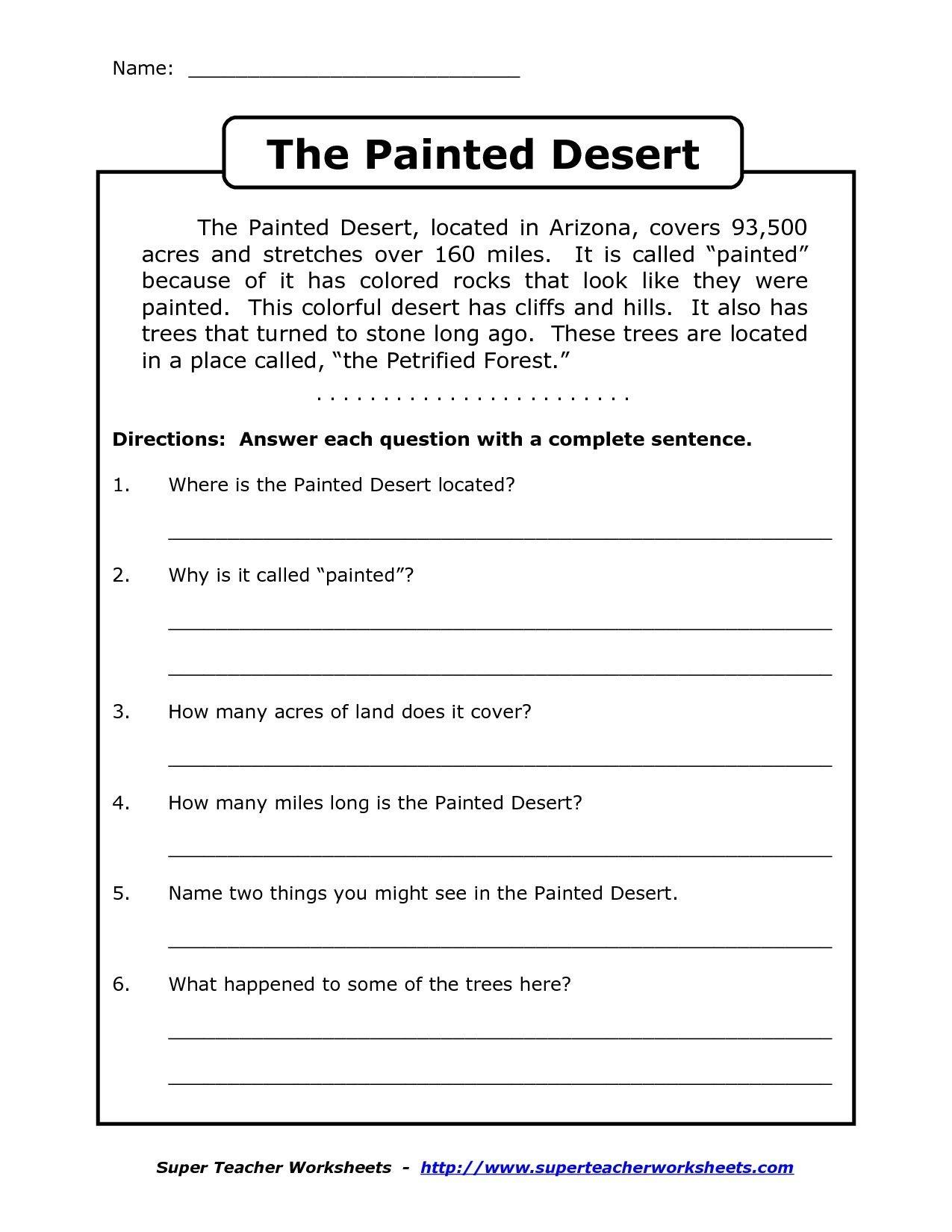 Image Result For Free Printable Worksheets For Grade 4 Comprehension - Free Printable Ela Worksheets