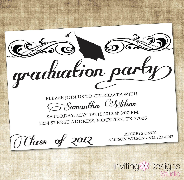Image Result For Graduation Party Invitation Wording Ideas | Zach - Free Printable Graduation Invitations 2014