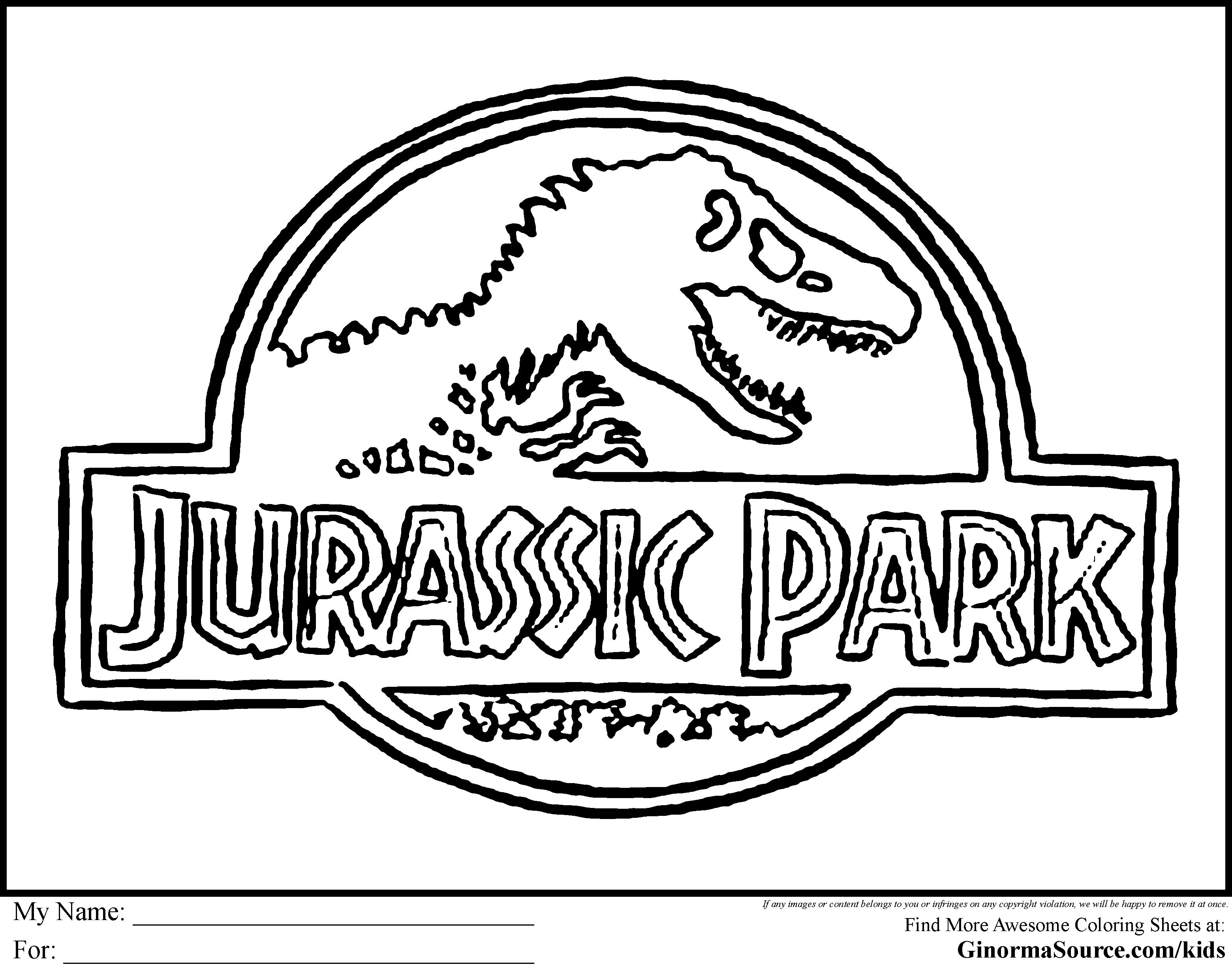 Image Result For Jurassic World To Colour   Downloads   Jurassic - Jurassic World Free Printables