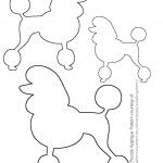 Image Result For Poodle Drawing | Poodles | Sock Hop Costumes, Sock   Free Printable Poodle Template