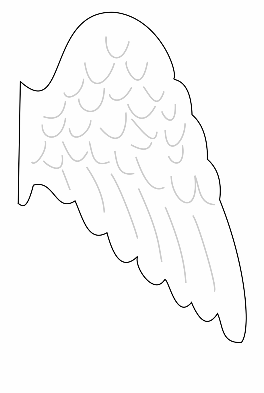 Image Transparent Download S Big Image Png - Angel Wing Template - Angel Wings Template Printable Free