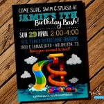 Images Water Park Birthday Invitations Party Invitation For Sale   Free Printable Water Park Birthday Invitations