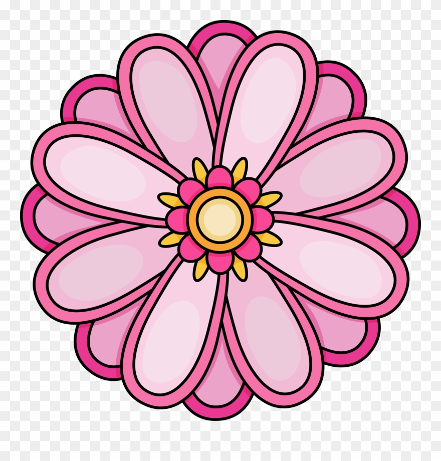Imagination Pictures Of Flowers To Color Free Printables - Flower - Free Printable Clipart Of Flowers