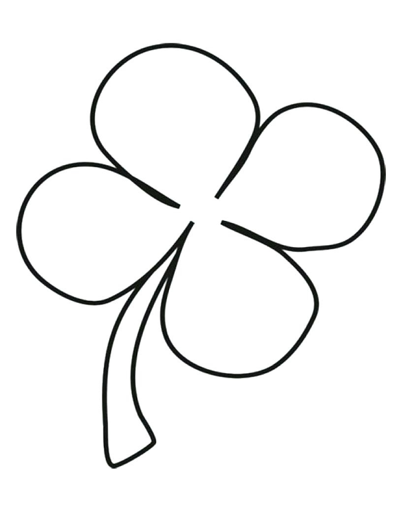 Inspirational Four Leaf Clover Coloring Pages   Coloring Pages - Four Leaf Clover Template Printable Free