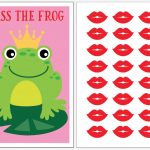 Instant Download Pin The Kiss The Frog Party Game For Your | Etsy   Pin The Kiss On The Frog Free Printable
