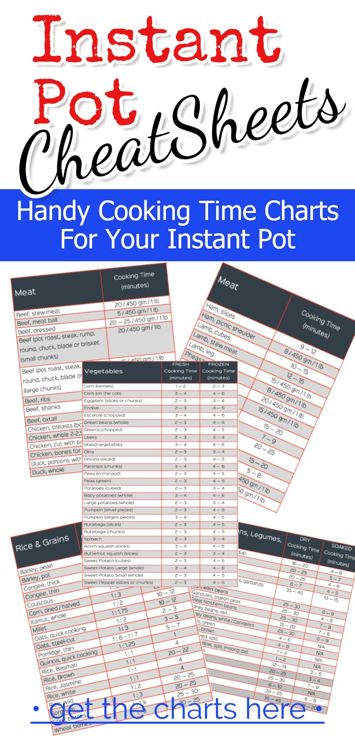 Instant Pot Cooking Times – Free Cheat Sheets For July 2019 - Free Printable Instant Pot Cheat Sheet