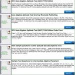Iowa Algebra Aptitude Test Sample Questions   Pdf   Free Printable Hspt Practice Test