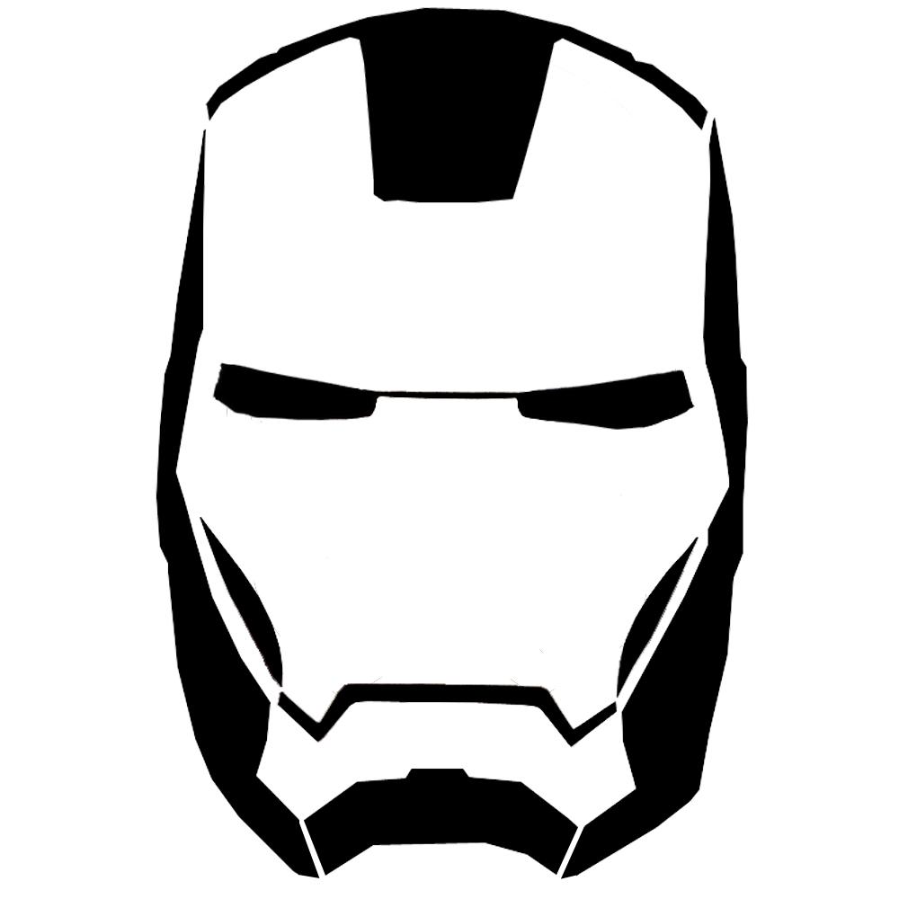 Iron Man Mask Stencils | Silhouette | Face Stencils, Pumpkin Stencil - Free Printable Ironman Mask